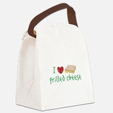 Grilled Cheese Heart Canvas Lunch Bag