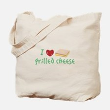Grilled Cheese Heart Tote Bag