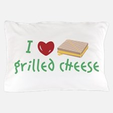 Grilled Cheese Heart Pillow Case