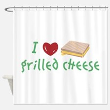 Grilled Cheese Heart Shower Curtain