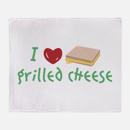 Grilled Cheese Heart Throw Blanket