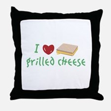 Grilled Cheese Heart Throw Pillow