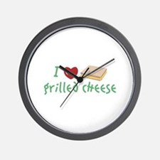 Grilled Cheese Heart Wall Clock