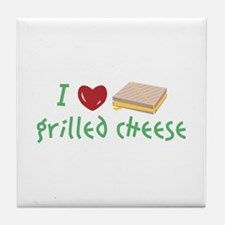 Grilled Cheese Heart Tile Coaster