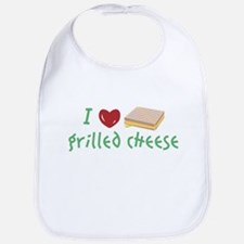 Grilled Cheese Heart Bib