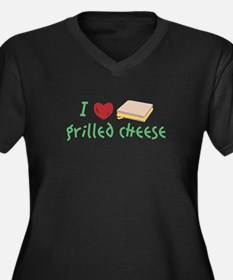 Grilled Cheese Heart Plus Size T-Shirt