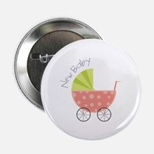 """New Baby 2.25"""" Button (100 pack)"""