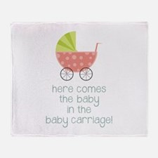 Baby Carriage Throw Blanket