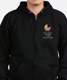 Baby Carriage Zip Hoodie