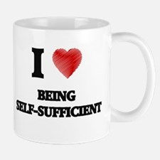 being self-sufficient Mugs
