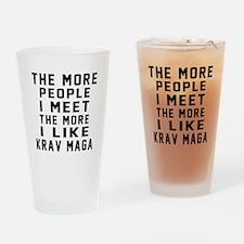 I Like Krav Maga Drinking Glass