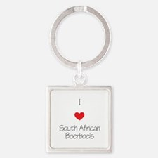 I love South African Boerboels Square Keychain
