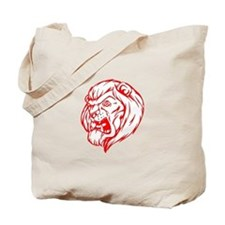 Lion Mascot (Red) Tote Bag