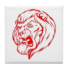 Lion Mascot (Red) Tile Coaster