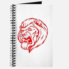 Lion Mascot (Red) Journal