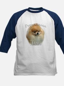 Pomeranian Mom2 Kids Baseball Jersey