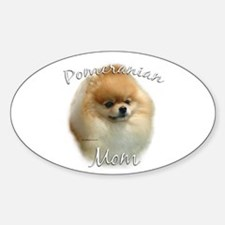 Pomeranian Mom2 Oval Decal