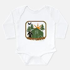Funny Happy camper Long Sleeve Infant Bodysuit