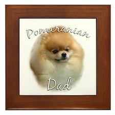 Pomeranian Dad2 Framed Tile