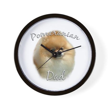 Pomeranian Dad2 Wall Clock