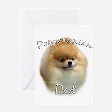 Pomeranian Dad2 Greeting Card