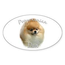 Pomeranian Dad2 Oval Decal