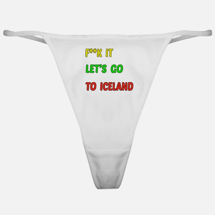 Let's go to Iceland Classic Thong
