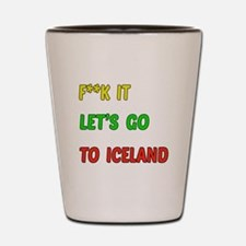Let's go to Iceland Shot Glass
