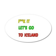 Let's go to Iceland Wall Decal