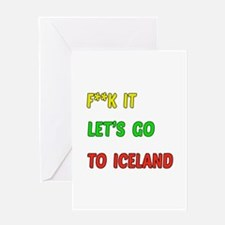 Let's go to Iceland Greeting Card
