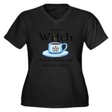 Cool Cup coffee Women's Plus Size V-Neck Dark T-Shirt