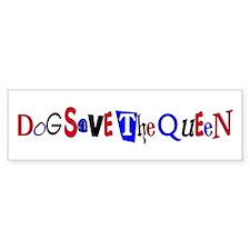 Dog Save the Queen Bumper Bumper Sticker