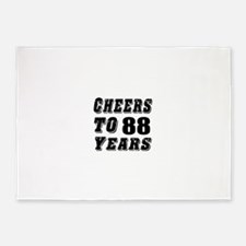 Cheers To 88 5'x7'Area Rug