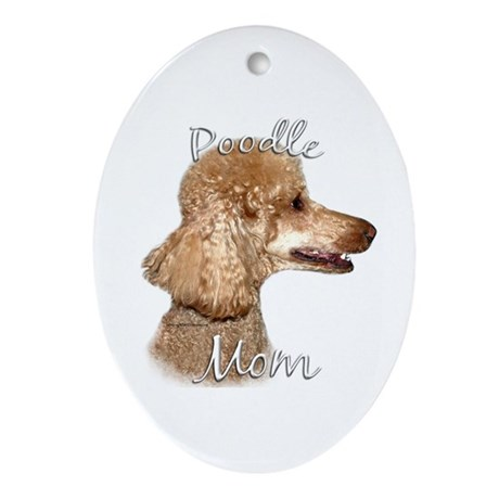 Poodle Mom2 Oval Ornament