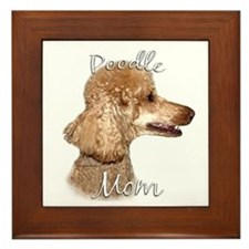 Poodle Mom2 Framed Tile
