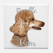 Poodle Mom2 Tile Coaster