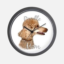 Poodle Mom2 Wall Clock