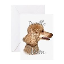 Poodle Mom2 Greeting Card