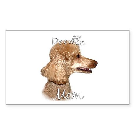 Poodle Mom2 Rectangle Sticker