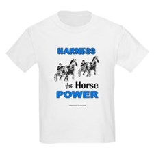 Horse Power - Blue Kids T-Shirt