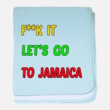 Let's go to Jamaica baby blanket