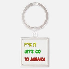 Let's go to Jamaica Square Keychain