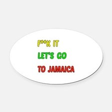 Let's go to Jamaica Oval Car Magnet