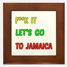 Let's go to Jamaica Framed Tile