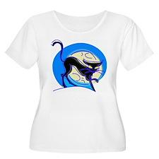 Blue Halloween cat T-Shirt