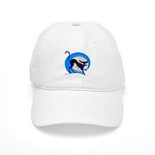 Blue Halloween cat Baseball Cap