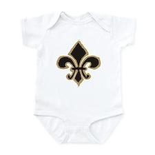 Black and Gold Fleur Infant Bodysuit