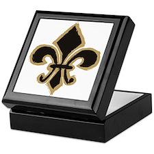 Black and Gold Fleur Keepsake Box