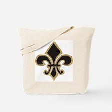 Black and Gold Fleur Tote Bag