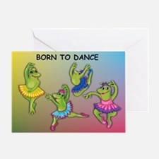 Ballet Frogs Greeting Card
